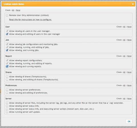 CrushFTP manage admin roles