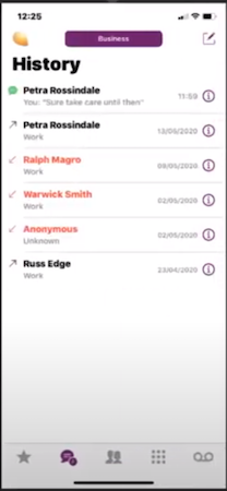 PiPcall business contact history