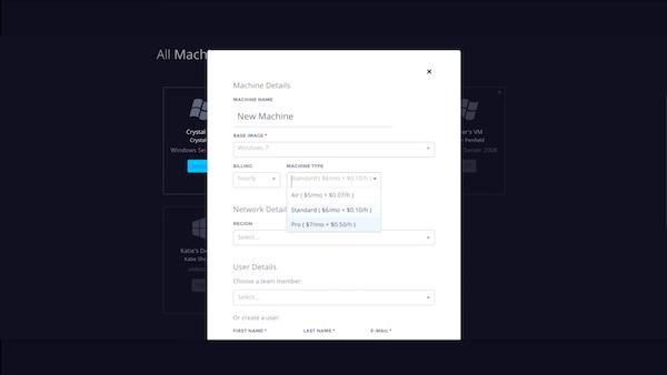 Paperspace machine details