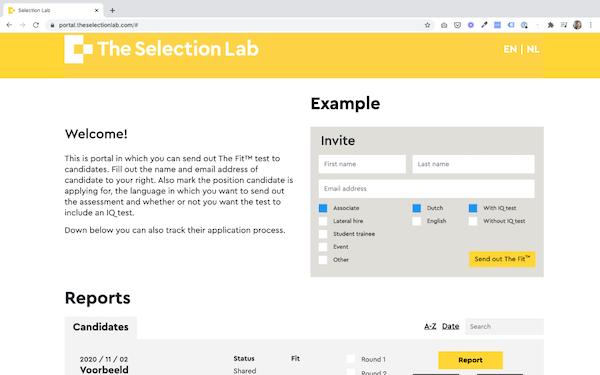 The Selection Lab invite applicants