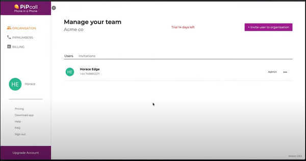 PiPcall manage your team