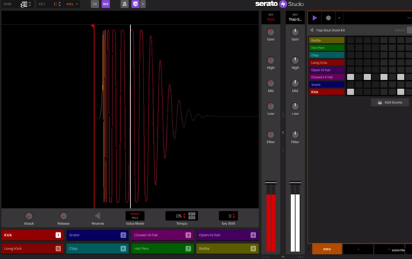 Serato Studio adjust BPM