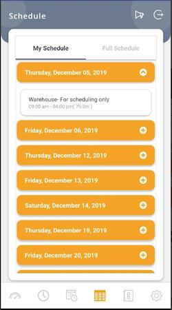 Zeleaux my schedule