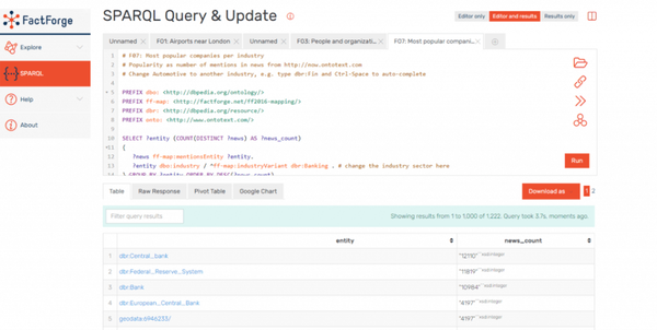 GraphDB query and update table view