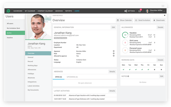 absence.io employee details