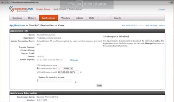 SecureLink access management