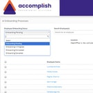 Accomplish onboarding processes