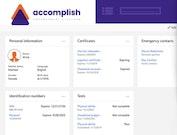 Accomplish employee information