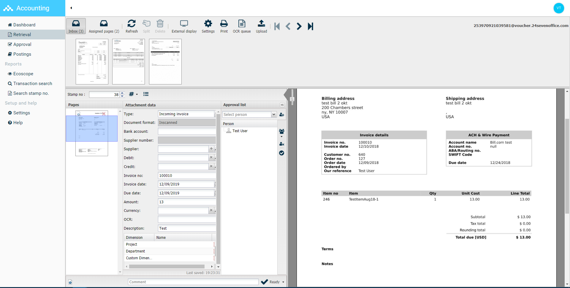 Invoice viewer