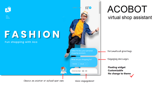 Acobot Virtual Shop Assistant