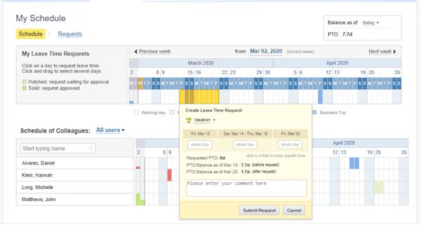 actiPLANS schedule management