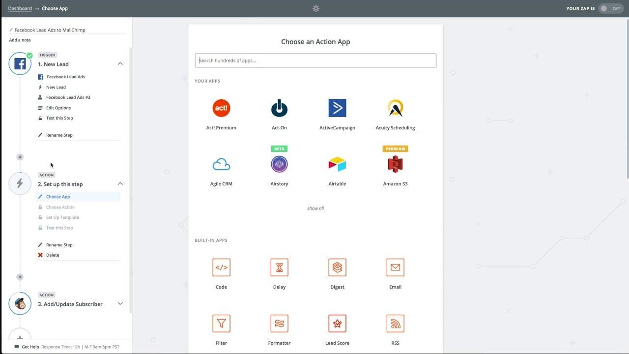 Zapier - Action apps