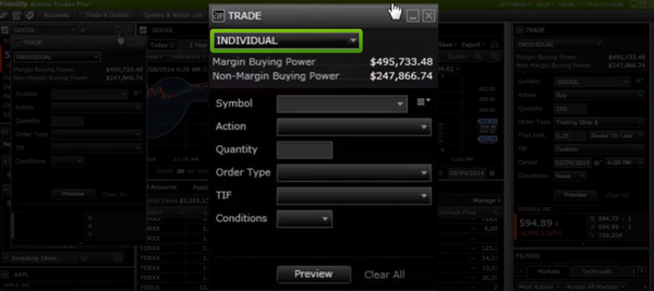 Active Trader Pro trading