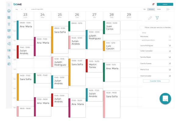 BEWE calendar management