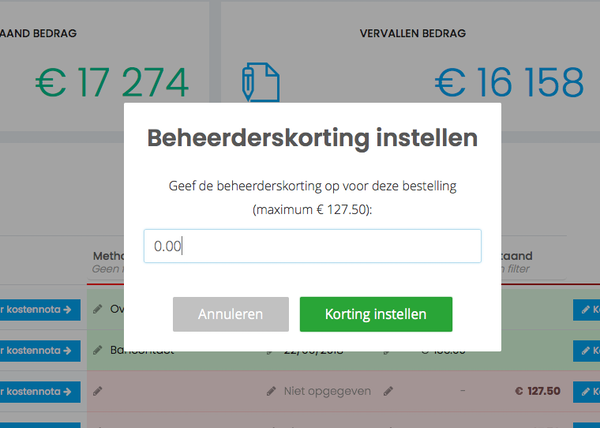 Ledenbeheer.be discount management