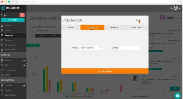 SalesScreen add report