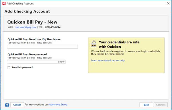 Adding checking account
