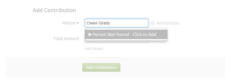 Adding contribution