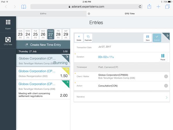 Expert Sierra case entries screenshot