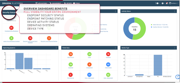 Advanced Endpoint Protection overview dashboard screenshot