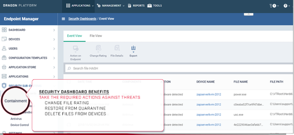 Advanced Endpoint Protection verdicting engine screenshot