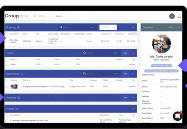 Groupdesk agent page