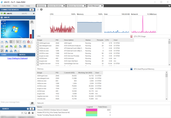 Datto RMM Agent Interface