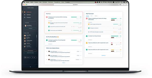 Ahundred dashboard screenshot