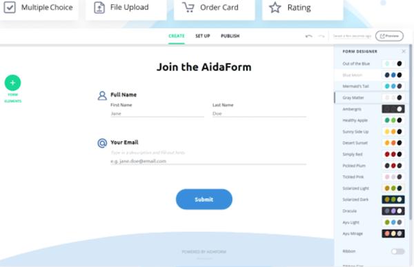 AidaForm create forms