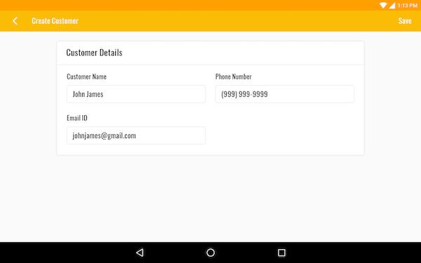 IvyPlex add customer details