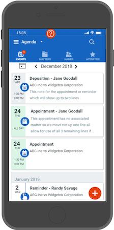Mobile Calendar Agenda