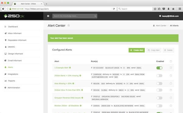 Alert center