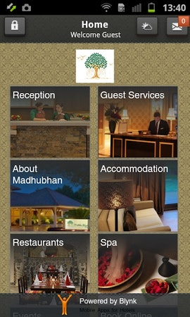 Blynk Hotel App home