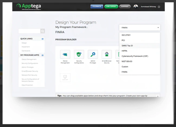Apptega program builder