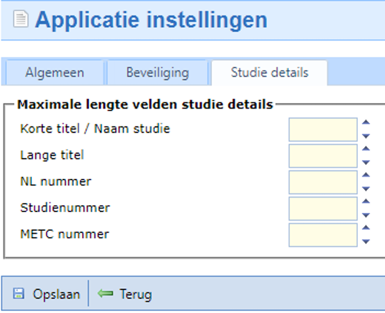 Research Manager application setting
