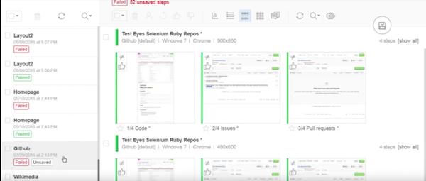 Applitools layout screenshot