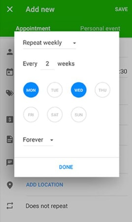 Appointfix recurring appointments