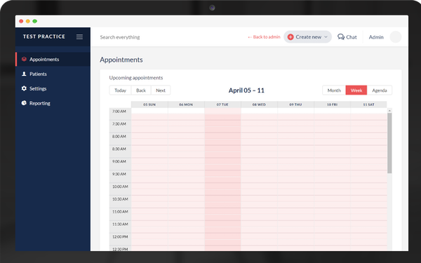 Meva appointment dashboard