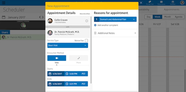 Virtual Care Management appointment scheduling