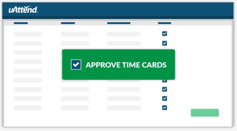 Approval time card