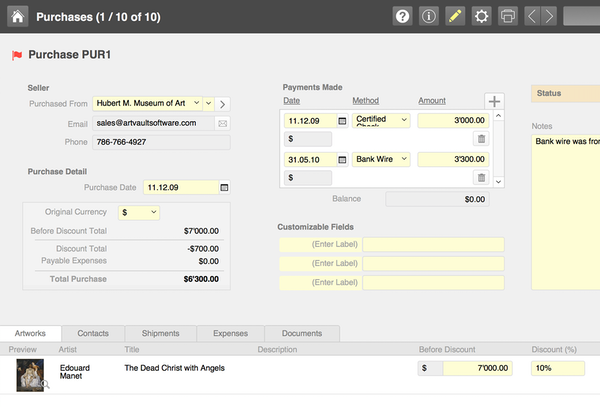 ArtVault Pro purchase details