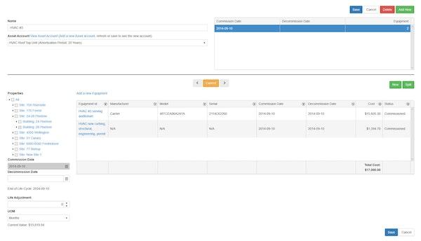 Asset account settings