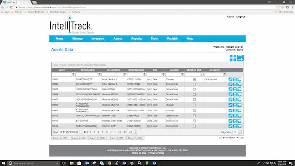 IntelliTrackAssets assets data management
