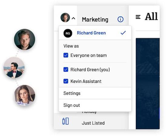Rechat teams management screenshot