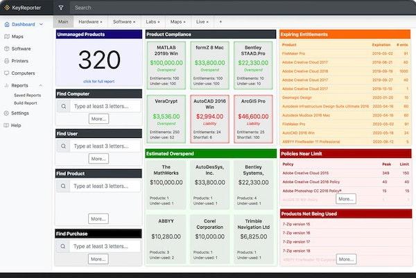 Sassafras asset management dashboard