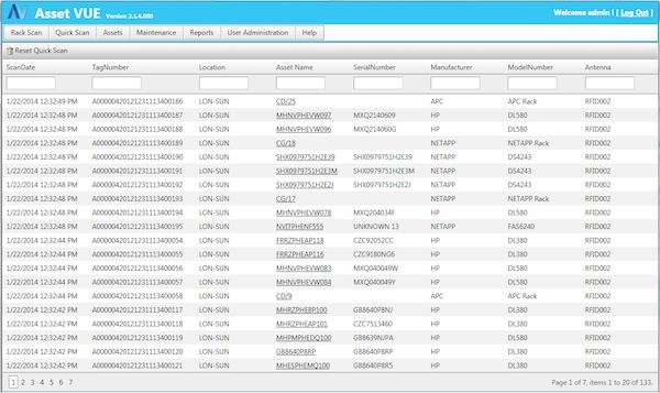 Asset Vue Quick Inventory Overview