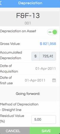 Assetize.it calculate depreciation