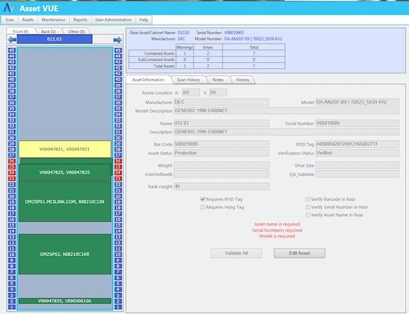 Asset Vue Collision Management