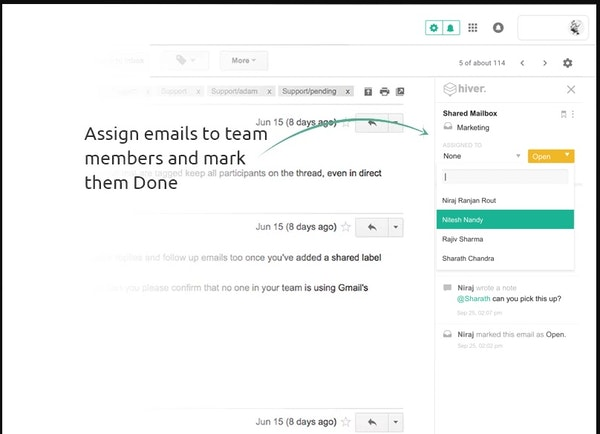 Assign Emails