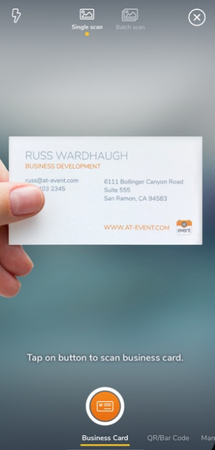 atEvent scan business cards